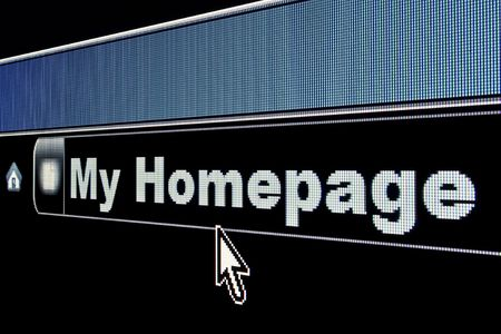 My Homepage concept on an internet browser URL address Stock Photo - 4932889
