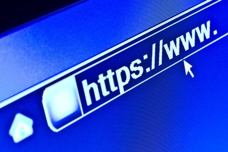 http: Internet browser on a secure HTTPS URL address