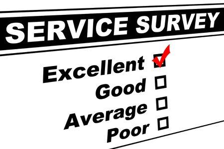 顧客サービス調査は優秀な分離に白を選んだと記入