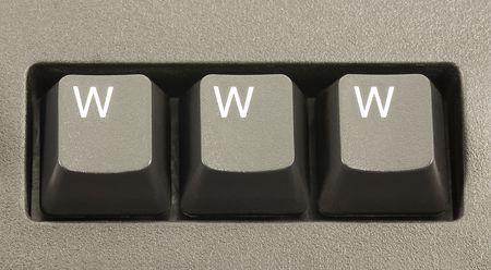 WWW internet concept on a computer keyboard 免版税图像