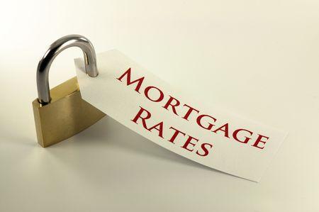 ロックダウン概念を固定の住宅ローン金利