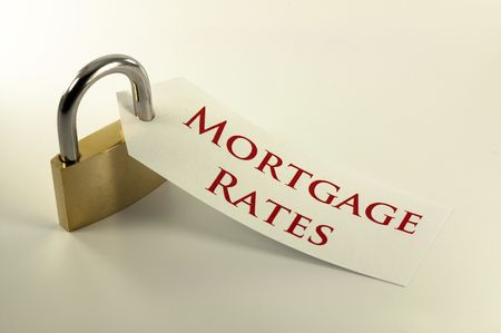locked: Mortgage rates locked down  fixed concept