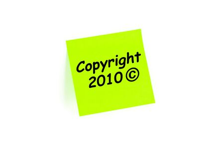 Copyright 2010 symbol on an office paper pad Archivio Fotografico