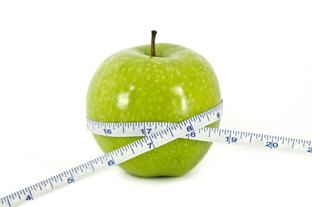 Apple and Measurement Tape Diet Concept