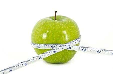 Apple and Measurement Tape Diet Concept
