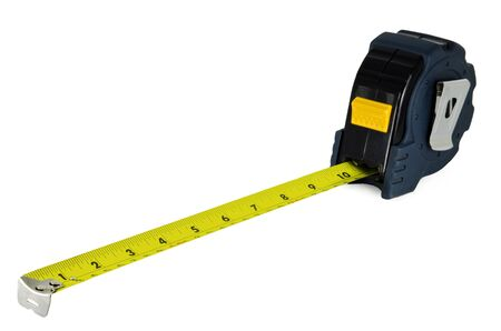 Construction Measuring Tape Isolated on White Background