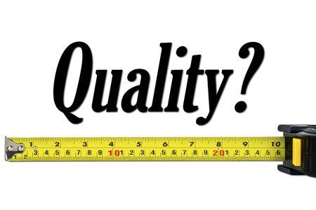 品質管理とテープ メジャーと測定概念 写真素材