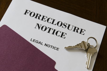 不動産の家の抵当流れの法律上の注意とキー 写真素材