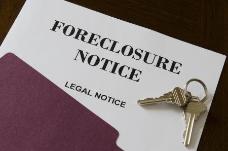 Real Estate Home Foreclosure Rechtliche Hinweise und Keys Standard-Bild