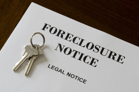foreclosure: Real Estate Home Foreclosure Legal Notice And Keys