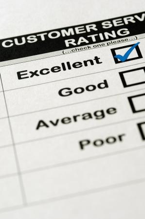 選ばれた優秀な評価と顧客サービス調査 写真素材