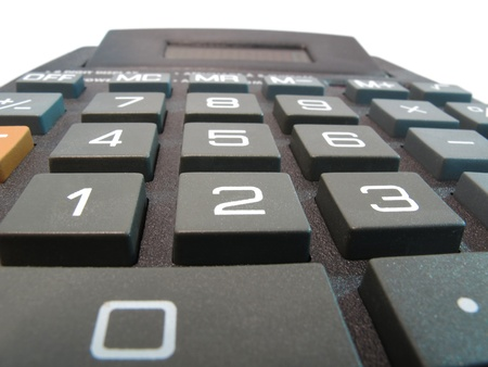 Calculator close up macro photo