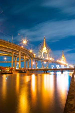 bhumibol: Bhumibol bridge Stock Photo