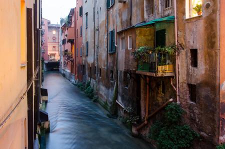 Ansaloni in Bologna, view through small window