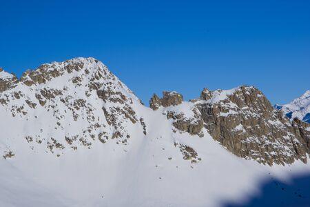 Panoramatic view from Presena glacier Reklamní fotografie
