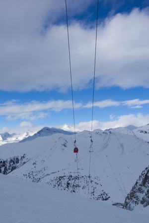 Top station of Paradiso cable car, Passo Tonale, Italy