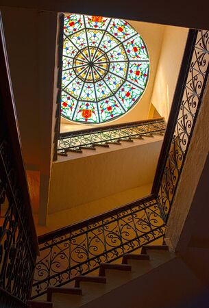 colonial interior stairs mexico beautiful architecture old window