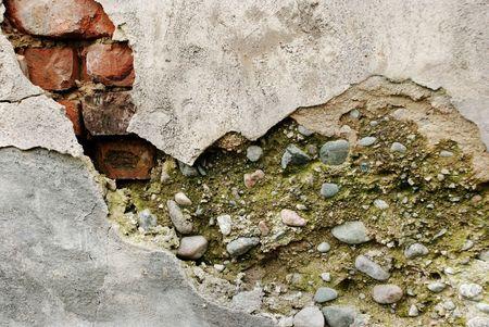epoch: Il vecchio e danneggiato muro, un antico epoca