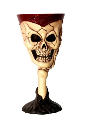 Death bowl, the smile of terrible skull which is starting up fear