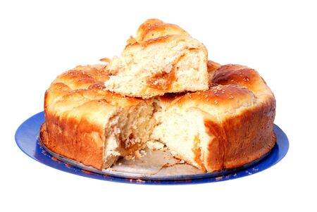 batch: Lote fresco y caliente de sabroso pan