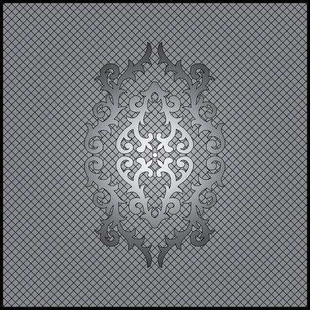 gray scale: art ornament frame, made in the gray scale