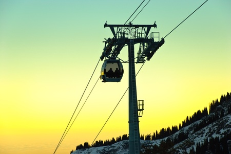 Aerial tramway in the mountain. Also known as cable car. Stock Photo - 9234314