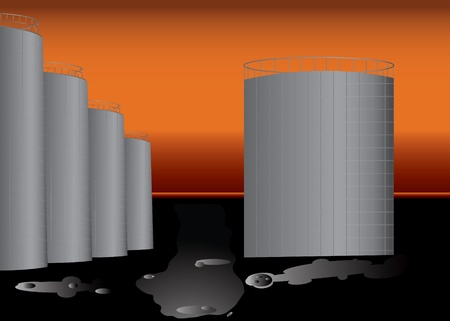 cistern: Big Oil base with plenty of oil in barrels.