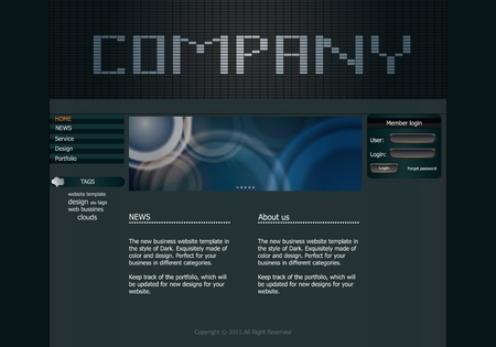 Stylish design website template for your business. Illustration