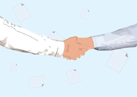 Partnership handshake for business or another concept design Illustration