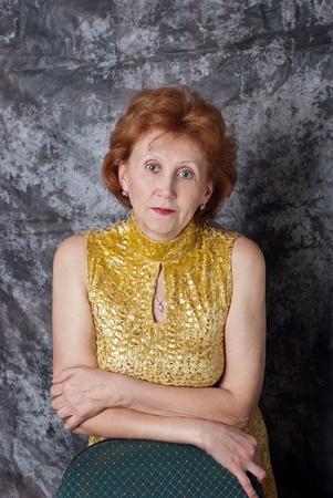 Portrait beautiful adult woman in yellow dress. Stock Photo - 11746509