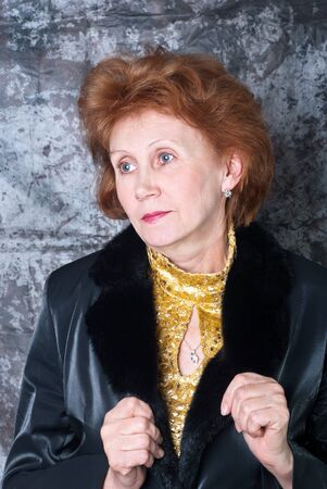 Beautiful portrait of a stylish woman in the studio. Stock Photo - 11746507