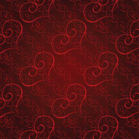 Vector illustration seamless heart pattern. Love background Vector