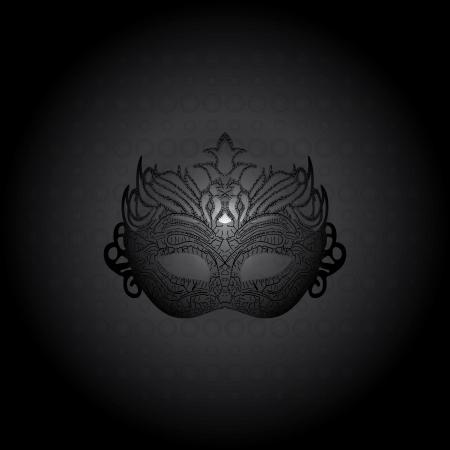 Vector illustration carnival mask on black background  Illustration