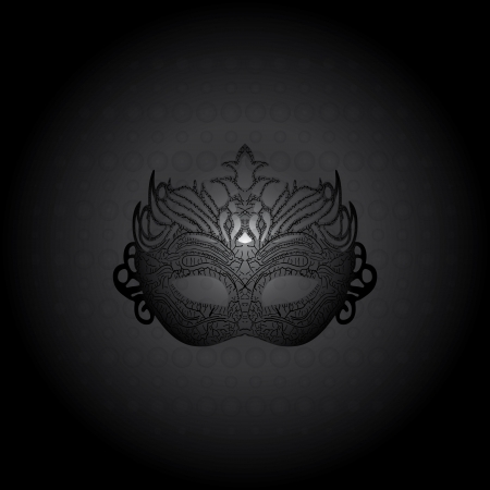 Vector illustration carnival mask on black background  Vector