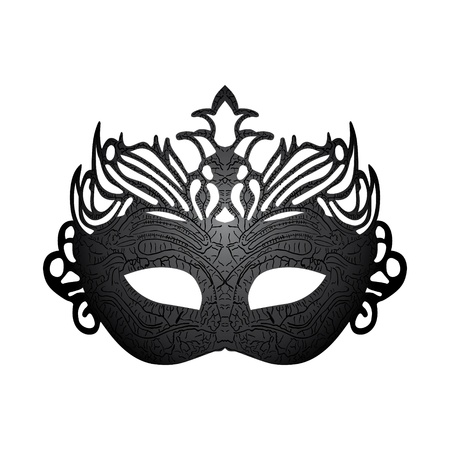 black mask: Vector illustration carnival mask isolated on white background  Illustration