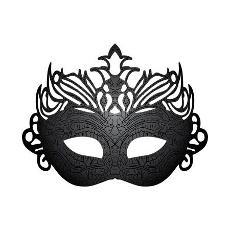 maski: Vector ilustracja karnawał maska wyizolowanych na białym tle
