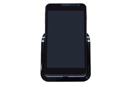 Pda phone with touch screen isolated on the white background  photo