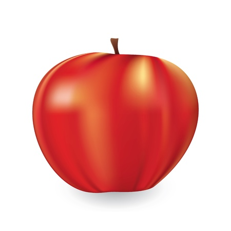 Vector illustration of a ripe red apple  using mesh Stock Vector - 16430702