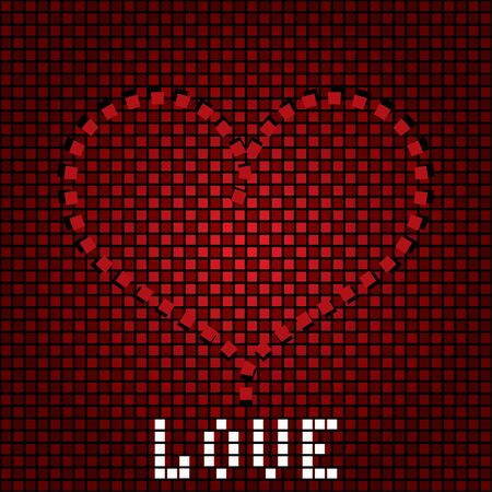 Greeting love background with heart on the creative backdrop Stock Vector - 17624798