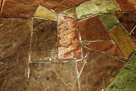 Instance colored paving slabs closeup. Stock Photo