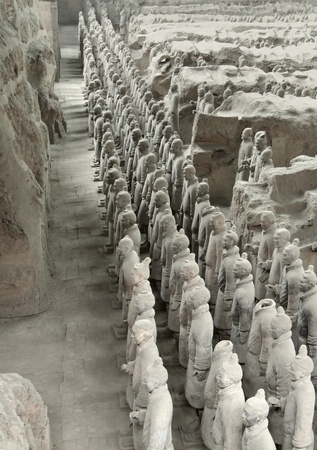 qin: part of the Terracotta Army in Xian in China