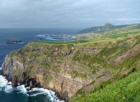 rocky coastal scenery at Sao Miguel Island photo