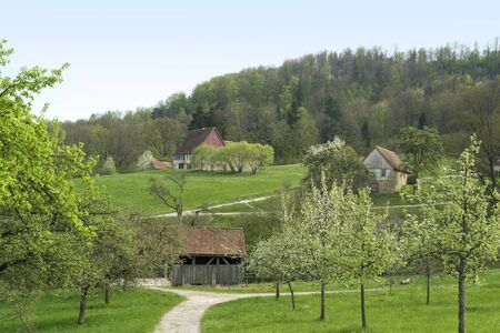 Wackershofen at s pring time in Hohenlohe (Southern Germany) Stock Photo - 10838721