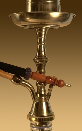 shisha closeup in golden ambiance photo