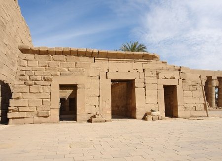 sunny illuminated architectural scenery at the Precinct of Amun-Re in Egypt (Africa)