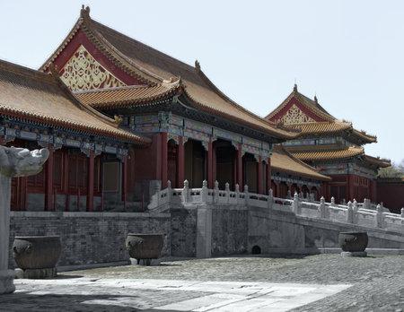 Scenario all'interno della Città Proibita di Pechino (Cina). La Città Proibita era il palazzo imperiale della dinastia Ming alla fine della dinastia Qing Archivio Fotografico - 10838878