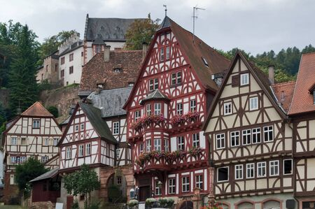 traditional historic houses in Miltenberg, a small town in Southern Germany Stock Photo - 10838886