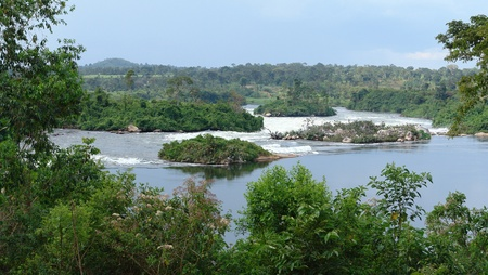 waterside scenery showing the River Nile near Jinja in Uganda (Africa) Stock Photo - 10838719