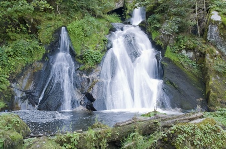 scenery showing the Triberg Waterfalls in the Black Forest in Southern Germany at summer time Stock Photo - 10840137