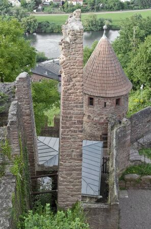 high angle detail of the Wertheim Castle in Southern Germany Stock Photo - 10838699